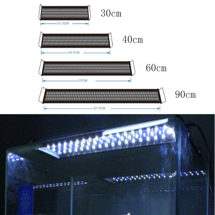30-120 CM Aquário CONDUZIU A Iluminação 1ft/2ft/3ft/4ft Luz Do Tanque de Peixes de Aquário Marinho