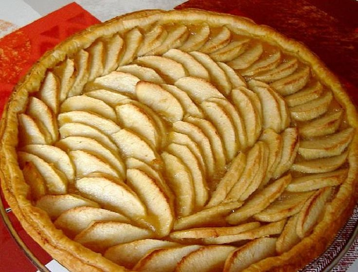 Torta crocante de manzanas