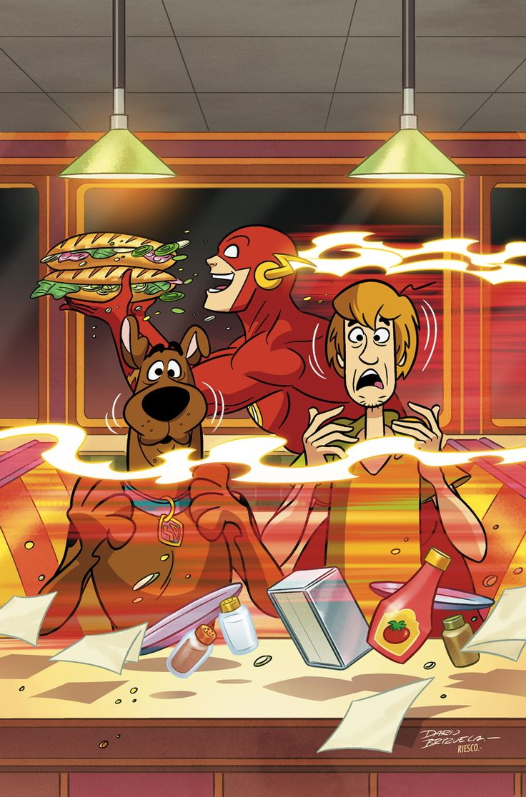 SCOOBY-DOO TEAM-UP #15 Written by SHOLLY FISCH Art and cover by DARIO BRIZUELA