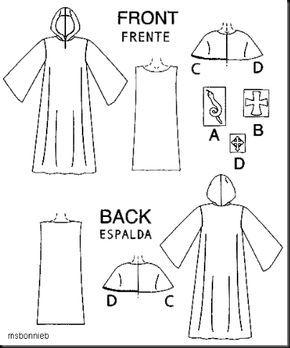 Como coser un disfraz de monje o cura