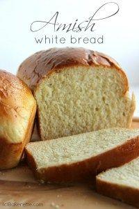 Amish White Bread Recipe    **** ** Recipe:   http://bakerette.com/amish-white-bread/