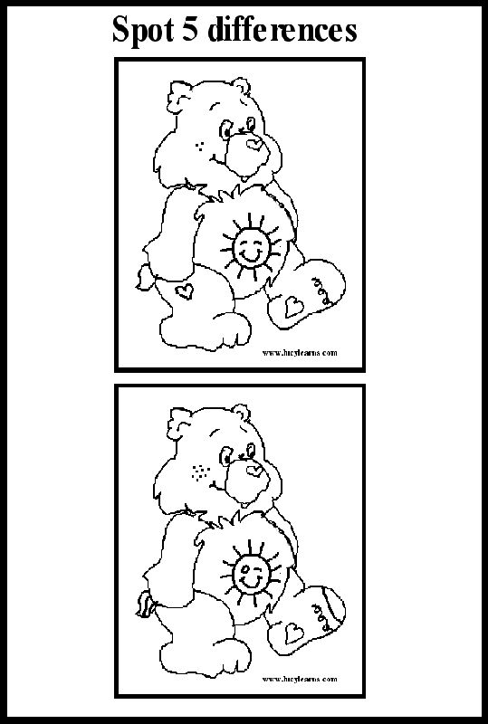 Number Names Worksheets  easy spot the difference  Free