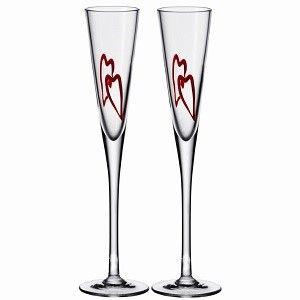 Leonardo Heart Champagne Glasses Set of 2
