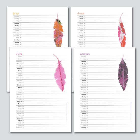 Design Printable 2014 15 Academic Planner Monthly Student