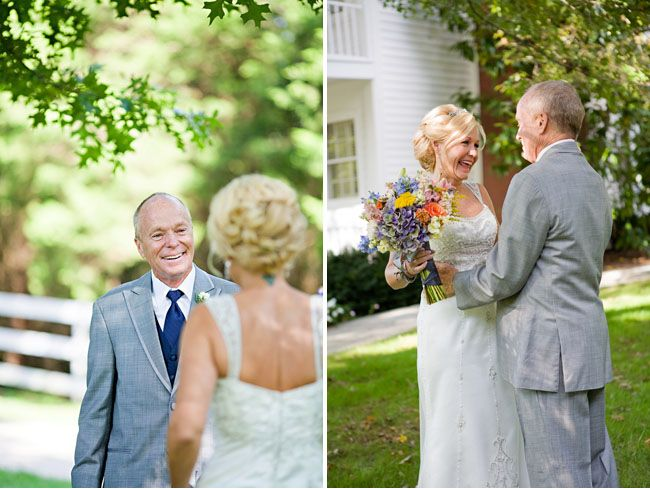 you are NEVER too old for a first look OR a beautiful wedding.