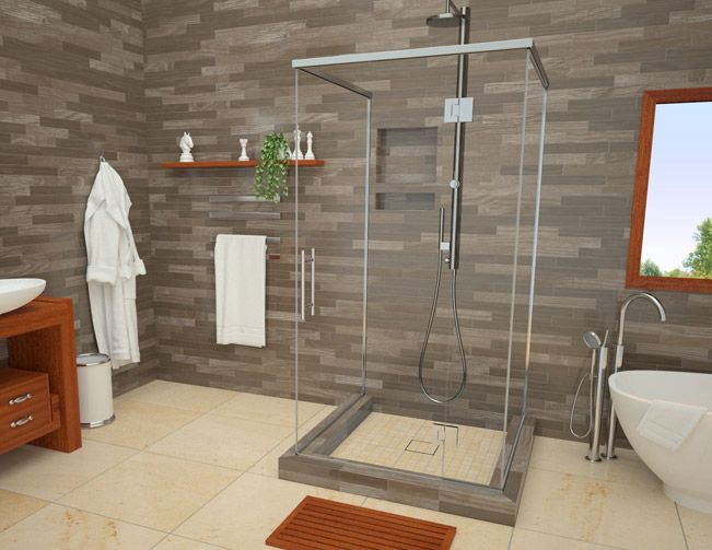 wonderfall trench shower pan 36 x 60
