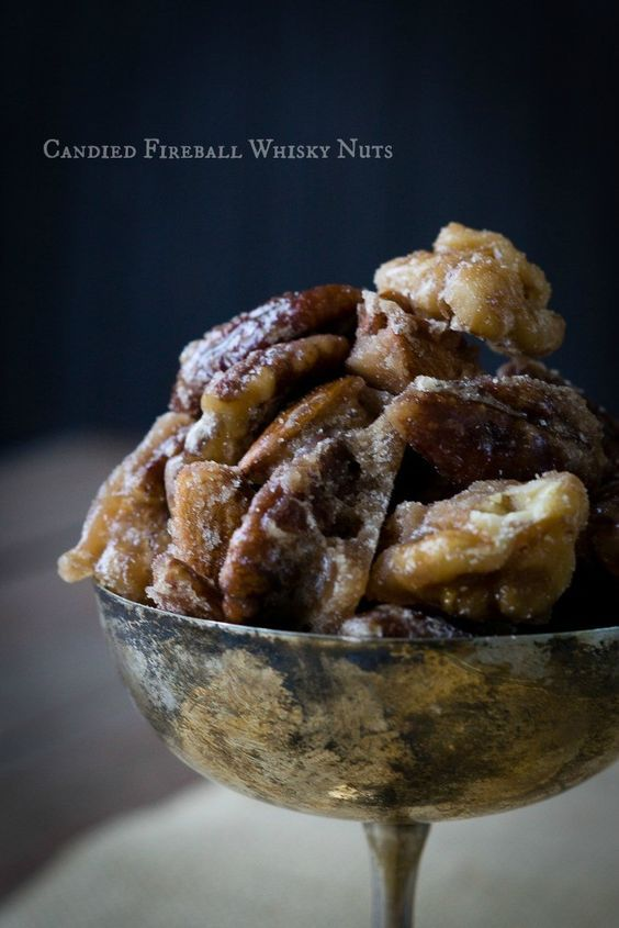 Candied Fireball Whisky Nuts - The Lazy Mom's Cooking Blog
