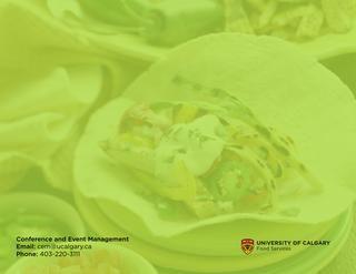 June 2015 Catering Menu  University of Calgary, Food Services
