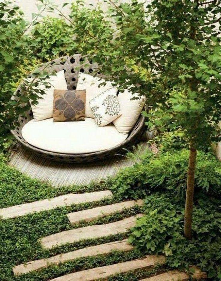 astounding garden seating ideas native design | 65+ Beautiful Garden Landscaping Design Ideas | Garden ...