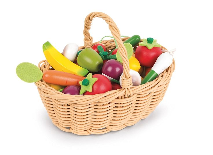 Janod - J05620 - Panier de 24 Fruits Et Légumes: Amazon.fr: Jeux et Jouets