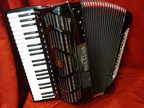 #MusicalInstruments NEW Beltuna Piano Accordion Leader V Black GHV Tone Chamber LMMMH 41 120