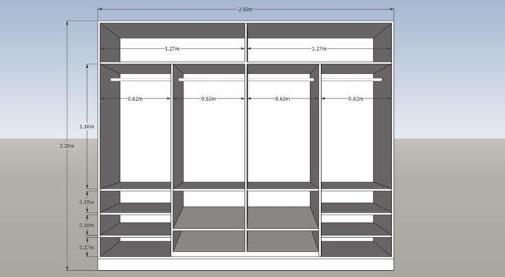 Best 25 closet de melamina ideas on pinterest roperos for Planos de muebles pdf