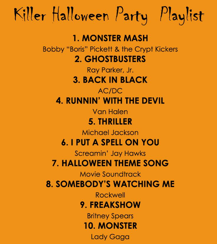 Killer Halloween Party Playlist. #Halloween #songs #music