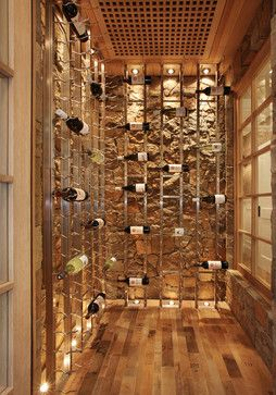 I'll tuck this away in case I become a millionaire... gorgeous wine cellar!