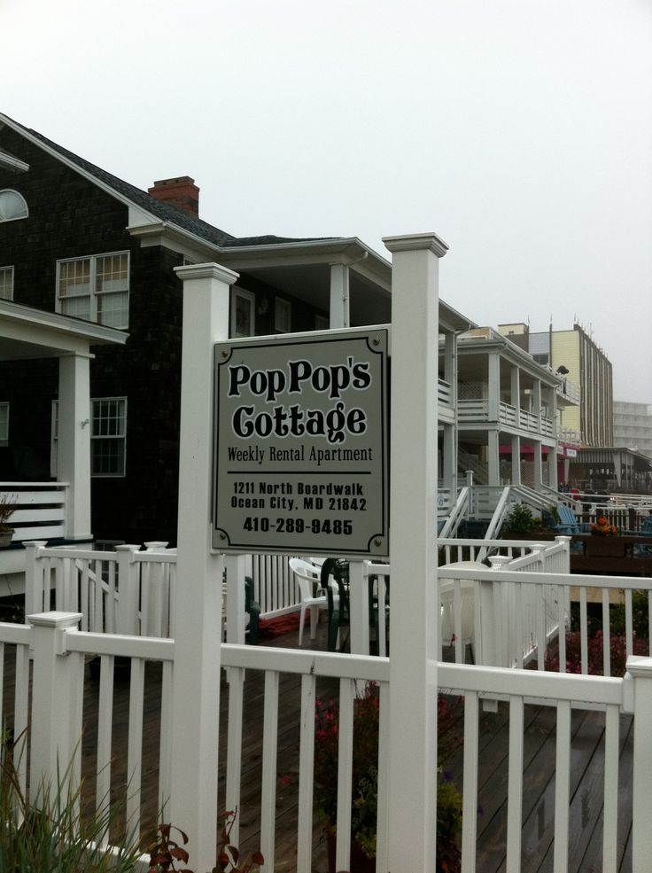 Pops Cottage At Ocean City Maryland Boardwalk