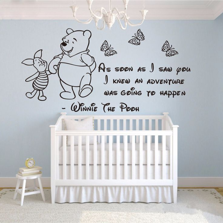 Winnie The Pooh Wall Stickers Baby Wall Stickers Home Decoration Girls Boys  Bedroom Decor Wall Decals Part 43