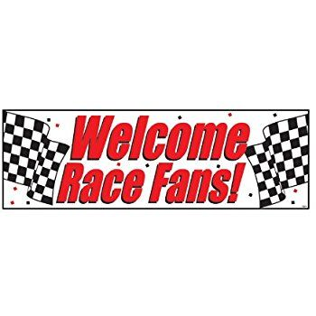 Fun sign to welcome little racers!     Amazon.com: Creative Converting 291724 Welcome Race Fans: Kitchen & Dining