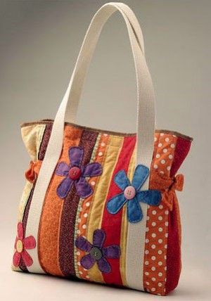 Patchwork bolsa colorida