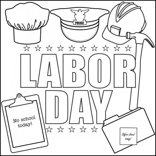Labor Day Coloring Pages   Labor day crafts, Coloring ...