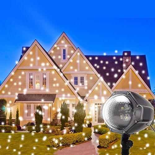 ICYMI: Decoration de Noël Exterieur LED Projecteur de Flocon de Neige Eclairage Exterieur Noël Lumière de Flocon de Neige Eclairage de…