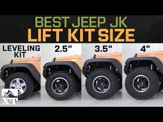 "Jeep Wrangler JK Leveling Kit vs 2.5"" vs 3.5"" vs 4"" - How To Select The Best Jeep Lift Kit - YouTube"