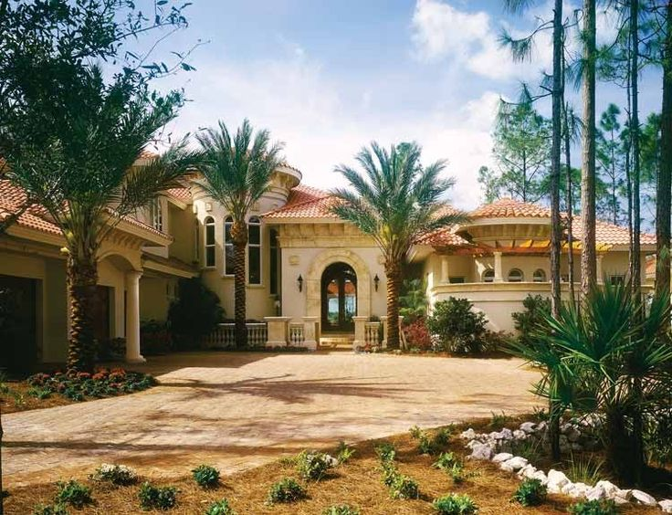 Mediterranean Homes mediterranean house plan with 5498 square feet and 4 bedrooms(s