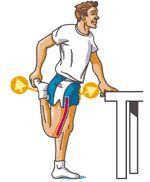 étirement du quadriceps