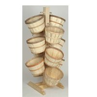 2.5'Square, 5.25'Tall Floor Display Tree including (12) 1/2 bushel baskets | Store Fixtures Direct | US$179