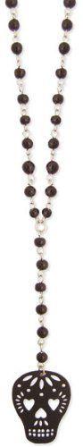 Black Bead Calavera Skull Necklace Zad Jewelry, http://www.amazon.com/dp/B004S33RJ6/ref=cm_sw_r_pi_dp_uGRlrb028M73V