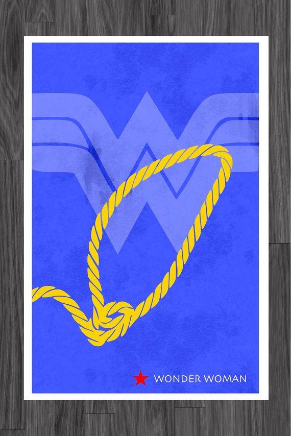 Minimalist Art Poster of Wonder Woman 11x17