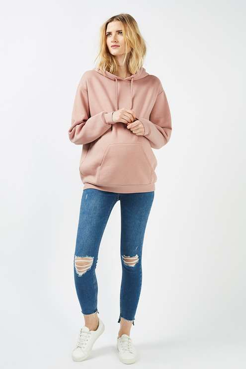 Choose cosy layers to throw on with laid-back styles like this super-soft hoodie in nude for Maternity. Cut in a relaxed fit for your growing bump, it's perfect for off-duty days. Comes detailed with an adjustable drawstring and roomy hood. #Topshop