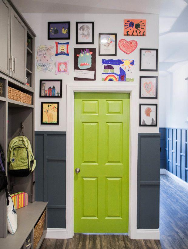 DIY Mudroom Makeover   Display Your Kids Artwork In A Gallery Wall Mudroom  Organization, DIY