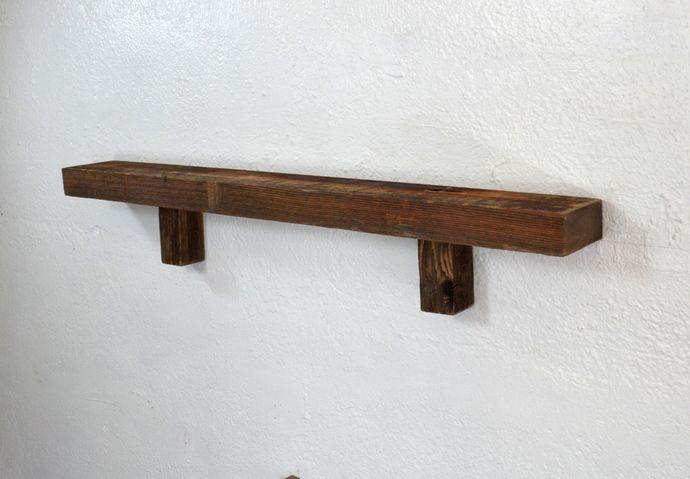 Rustic Brown Wall Shelf 30 Wide 3 25 Deep Handcrafted From Weathered Wood Weathered Wood Brown Walls Wall Shelves