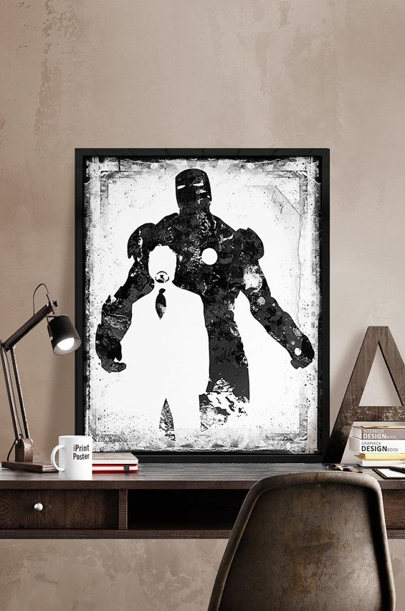 Iron Man print Iron Man poster Superhero poster by iPrintPoster