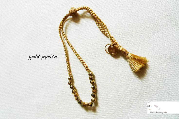 Mathilde Danglade Semi-precious stone bracelet Braccialetto con le pietre semi preziose Gold Pyrite