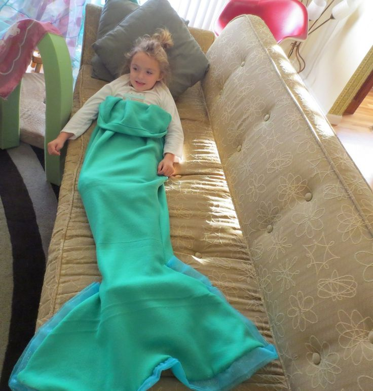Just Crafty Enough – Project – Mermaid Fleece Snuggler