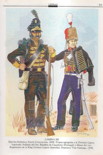 Soldado do 3º Batalhão de Caçadores e Hussardo do 1º Regimento da Legião Alemã do Rei