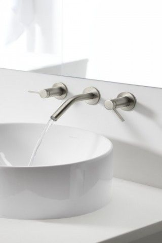 Stillness faucet   Vox sink    An all-white palette can help calm the mind and soothe the soul.
