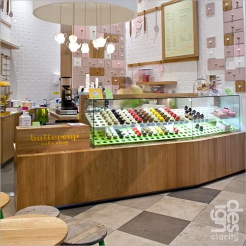 Buttercup Cake Shop. I love those lamps!