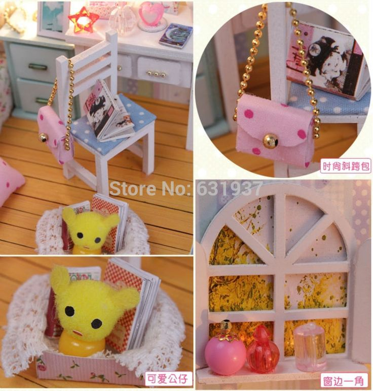 2015 nuevo llega el bricolaje casa de muñecas miniatura de madera 3D Dollhouse miniatura de los muebles para los niños juguetes muñecas casas de regalo de cumpleaños en Casas de Muñecas de Juguetes y Aficiones en AliExpress.com   Alibaba Group
