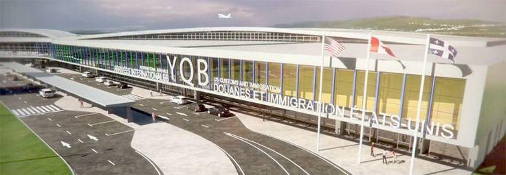 YQB 2018 : Agrandissement de l'Aéroport International Jean-Lesage de Québec par Gagnon Letellier Cyr Ricard Mathieu Architectes, Québec. Image : Graph Synergie. Source : Aéroport de Québec.