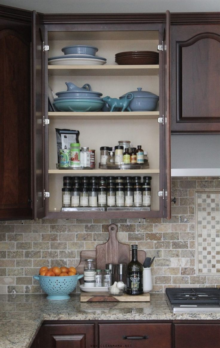 Organized herb spice cabinet getting it together pinterest
