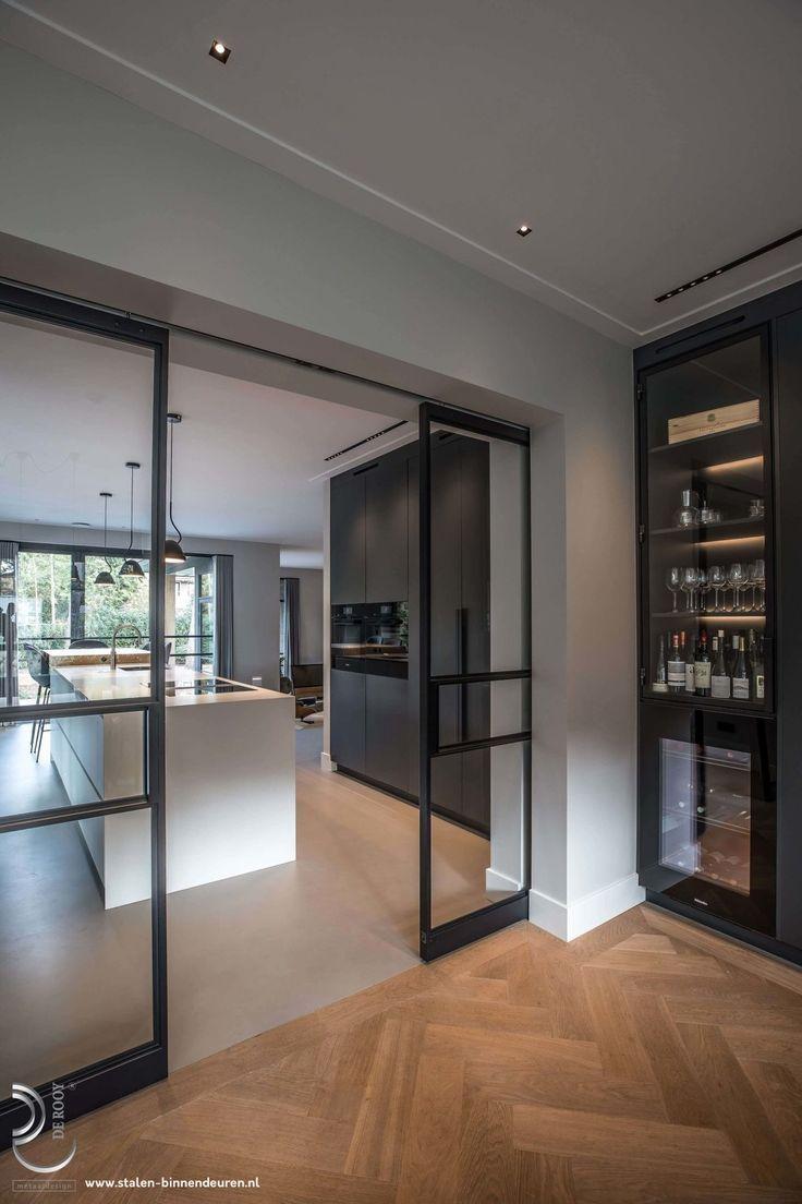 Porte Separation Salon Cuisine steel sliding doors #stalendeur #stalendeuren