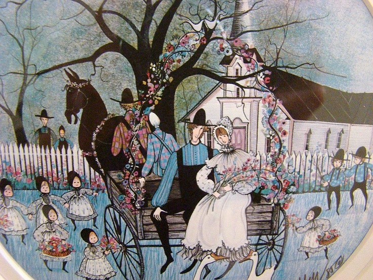 "P. Buckley Moss ""Wedding Joy"" Framed Signed Dated Print ..."