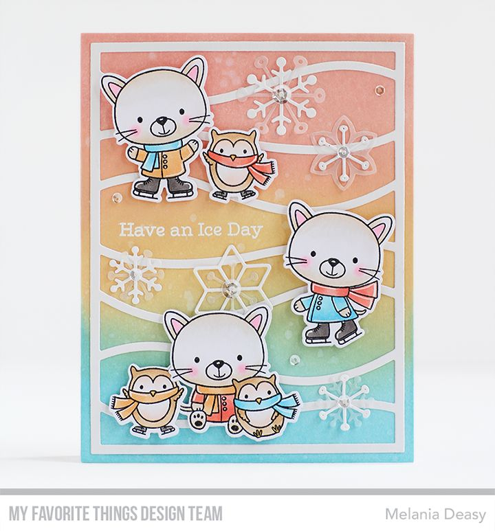 You Make My Heart Melt stamp set & Die-namics, Layered Snowflakes Die-namics, Snow Drifts Cover-Up Die-namics — Melania Deasy #mftstamps
