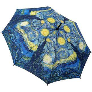Galleria Art Print Walking Length Umbrella - Starry Night by Van Gogh