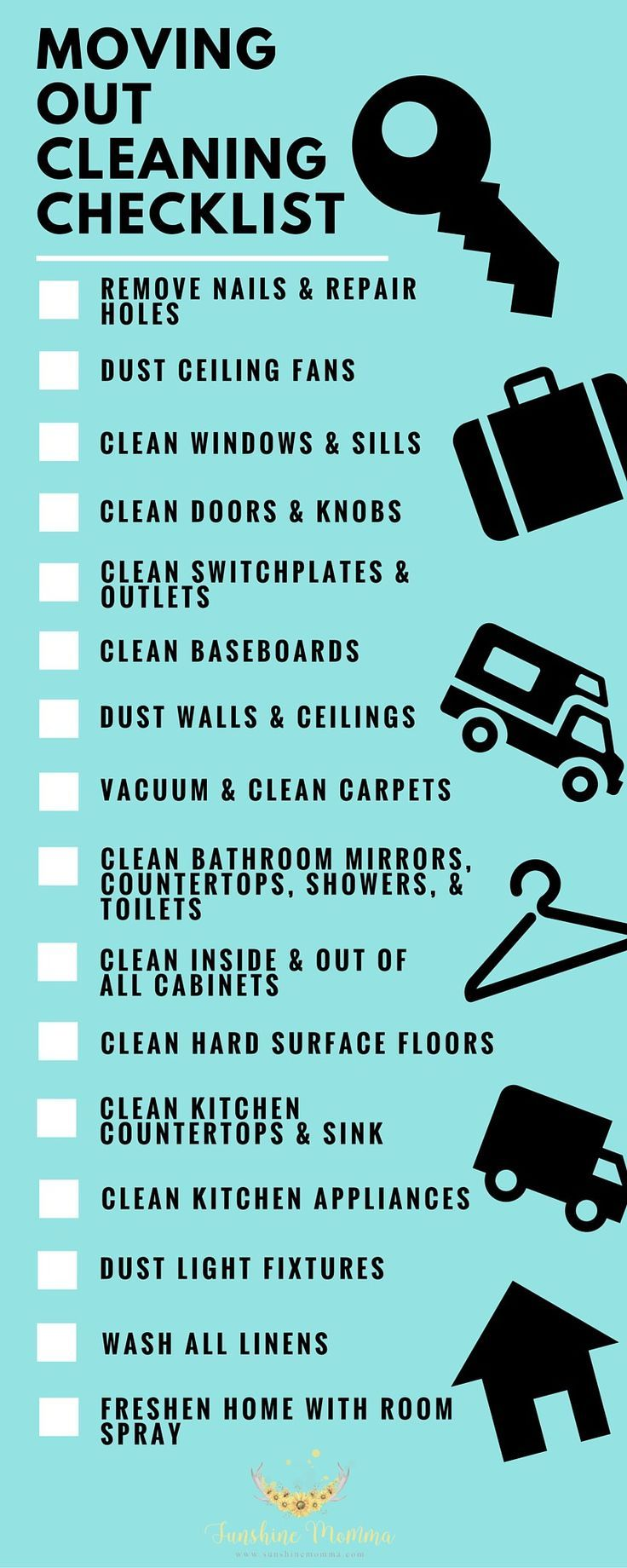 What to clean before moving out of your rent home- Sunshine Momma