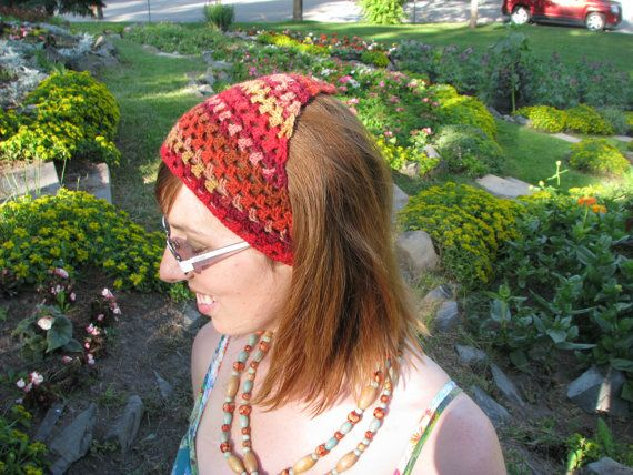 Raspberry Season hand crochet kerchief by TheEclecticMuses on Etsy, $20.00