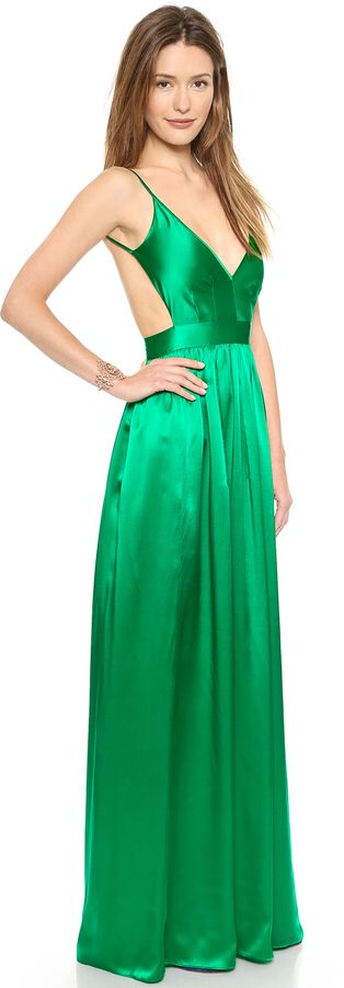 ONE by Contrarian Babs Bibb Emerald Green Maxi Dress 🍀🍀🍀