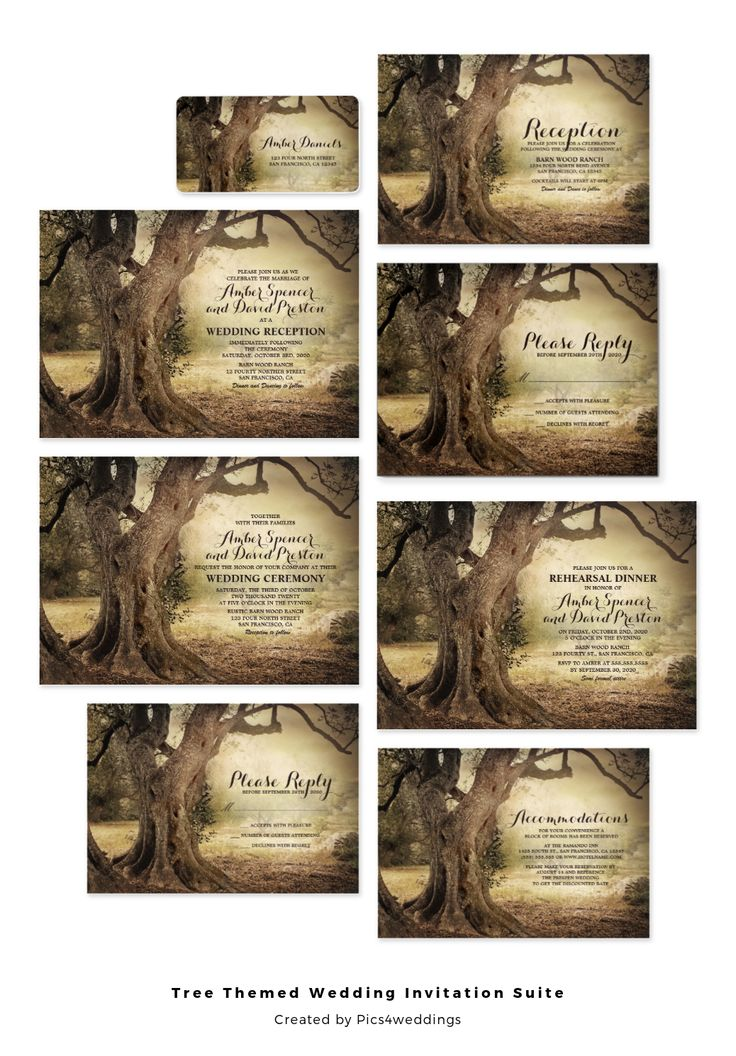 The Romantic Rustic Tree Themed Wedding Invitation Suite Is Perfect If Youre Having